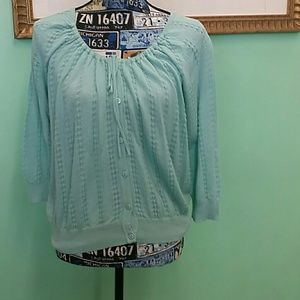 EUC fever large mint green long sleeve top